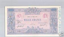 FRANCE 1 000 FRANCS BLEU ET ROSE 1 MARS 1916 ALPHABET L.921 QUALITE !!!