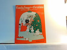 Family Songs for Christmas - vintage sheet music for piano, Hammond Organ, solov