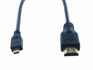 2 x 3 FT Micro HDMI to HDMI 1.4 Male to Male Converter Cable Cord Android Tablet