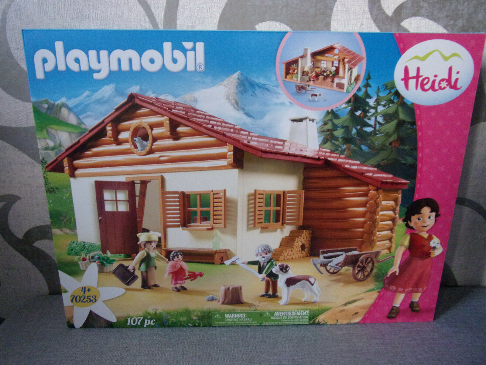 Playmobil Heidi - 70253 e Nonno Auf Der Cassetta - Nuovo in Confezione Originale