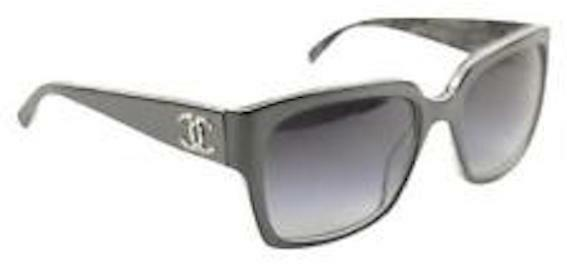 276be5323a48 CHANEL Sunglasses Authentic 5220 CH5220 Black Case Brown Grey CC ...