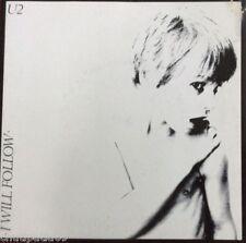 """U2 I Will Follow Irish pressing Sunburst Label 7"""" Near Mint"""
