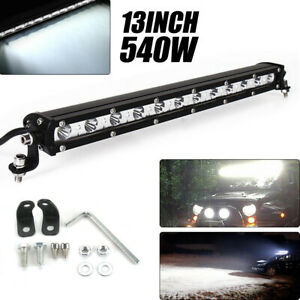 13INCH-540W-Phare-de-Travail-Cree-Barre-LED-Feux-Projecteur-Offroad-4x4-12V-24V