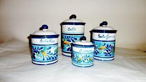 Contenitori-Barattoli-da-cucina-in-ceramica-Sorrentina-4-pezzi