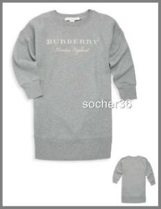 a8cb33498 Image is loading BURBERRY-GIRLS-039-MINI-SOURE-SWEATSHIRT-DRESS-GREY-