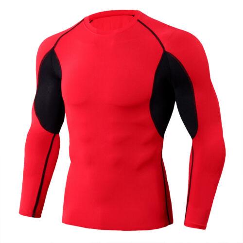 Men/'s Athletic Compression Set Cool Dry Shirt Long Legging Sport Gym Running