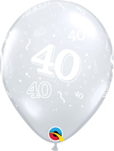 50 Gold Qualatex ANNIVERSARY Latex /& Foil Balloons -25 Silver 40 Ruby Diamond