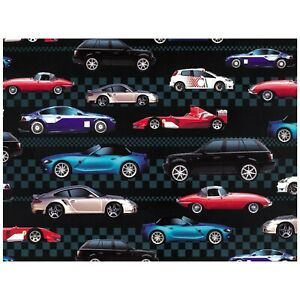 Birthday-Wrapping-Paper-Gift-Wrap-For-Him-Boy-Sports-Cars-18th-21st-30th-40th