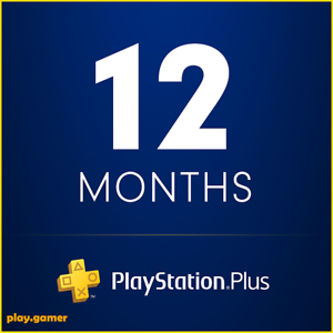*5 MINUTE DELIVERY* 12 MONTHS PLAYSTATION PLUS - PS3/PS4/PSVITA (NO CODE)