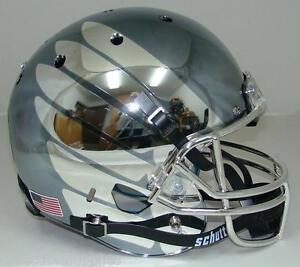 Oregon Ducks Schutt SMOKE CHROME WING Full Size Replica Helmet