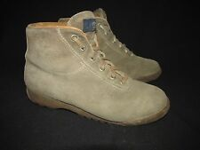 Vasque Vintage Suede Boot Leather Lined Padded Ankle Tongue Italy Women's 8.5M