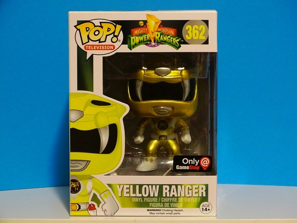 Funko POP  MMPR Yellow Ranger Metallic gold  Gamestop Exclusive