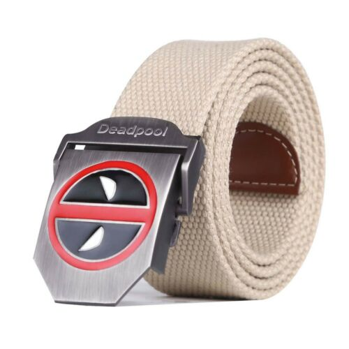 Deadpool Military Tactical Belt High Quality Canvas Strap Ceintures For Jeans