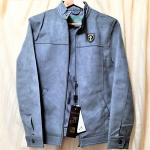 Talla A Jacket S Mens Collezioni Leather 48 Gray Suede Skin Faux pprOPRq8