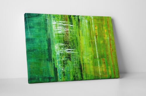 Green Tree Bark Abstract Art Gallery Wrapped Canvas Wall Art