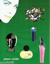 PUBLICITE ADVERTISING 116  1994  Les parfums Pierre Cardin  enigme choc bleu mar