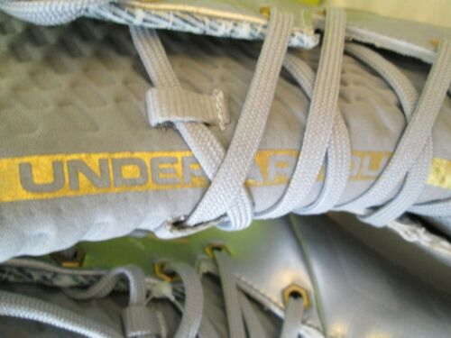 Details about  /NEW Under Armour Highlight MC LE Football//Lacrosse Cleats Slvr VOLT 12 FREE SHIP