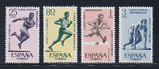 ESPAÑA (1962) MNH NUEVO SIN FIJASELLOS SPAIN - EDIFIL 1450/53 DEPORTES ATLETISMO