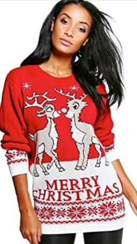Femmes Noël Renne Nouveauté Midi Dress pour Femme Noël Tunique Noël Pull