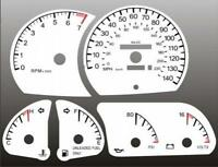 1999-2001 Cadillac Catera Dash Cluster White Face Gauges 99-01