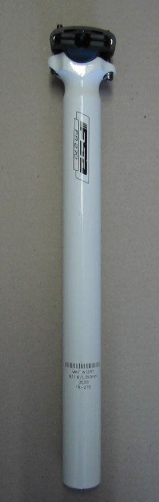 FSA FR-270 MTB Trekking Sattelstütze 31,6mm 350mm Neu weiss weiß