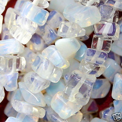 Long Strand 240 Clear Opalite 5-8mm Chip Beads GS3073 Charming Beads
