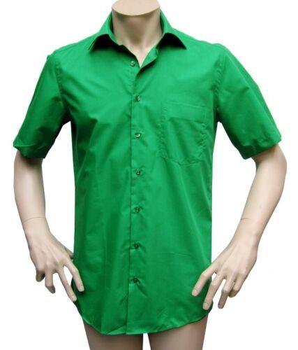 Manica Corta Uomo Camicia Colore Dimensione Selezionabile