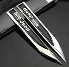 2pcs Auto car Dagger Fender Emblems Sticker Badge Decal fit for Black sports NEW