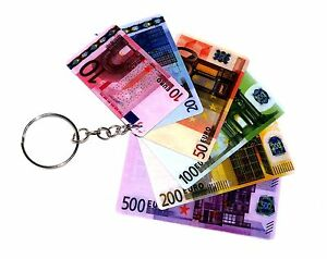 6-pzs-Llavero-Llavero-Broma-euroscheine-euronote-Jugar-Dinero