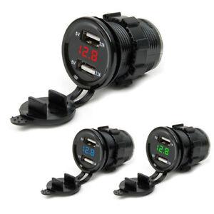 4-2A-12V-24-Car-Cigarette-Lighter-Socket-Dual-USB-Charger-Power-Adapter-Outlet-K