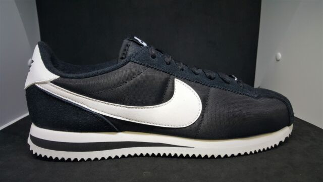 brand new cf15d 663e4 Nike Classic Cortez Nylon Black White Men Shoes Lifestyle Sneakers  819720-011
