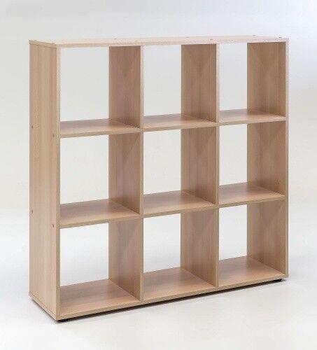 Raumteiler mit 9 Fächern Buche Dekor Melamin