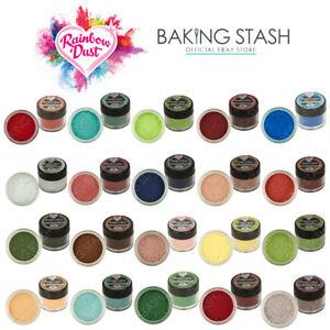 Details About Rainbow Dust Edible Cake Decorating Powder Colours Edible Matt Dusting Powder