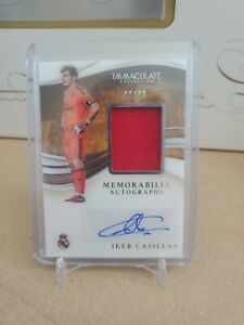 2020 Panini Immaculate IKER CASILLAS Real Madrid Patch Auto # 30/99