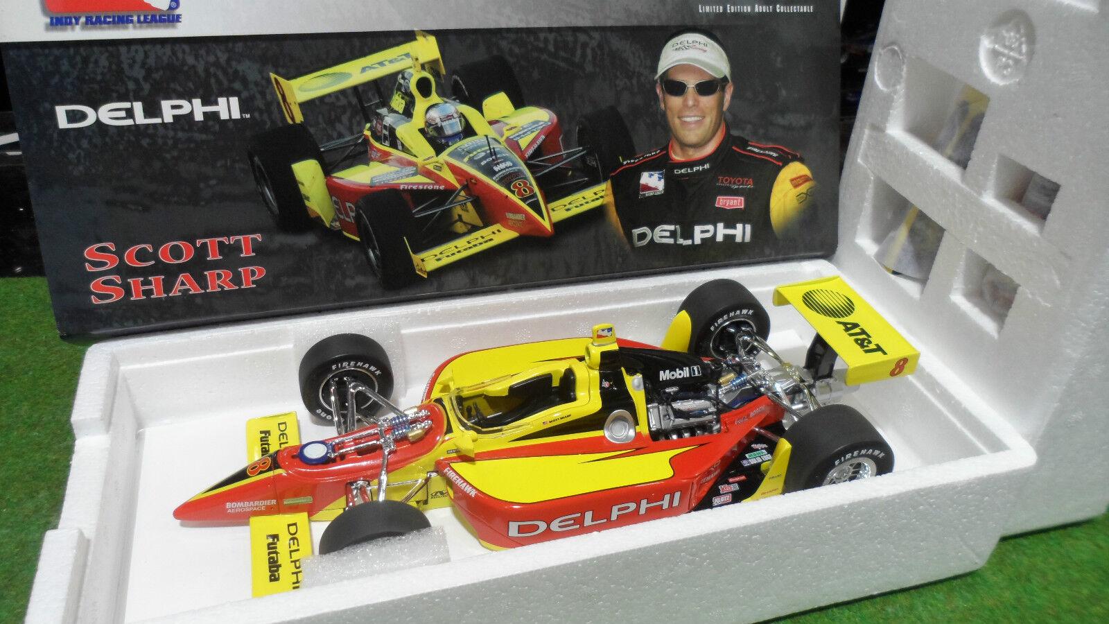 F1 INDY CAR SCOTT SHARP DELPHI DALLARA  8 Jaune au 1 18 ACTION voiture miniature