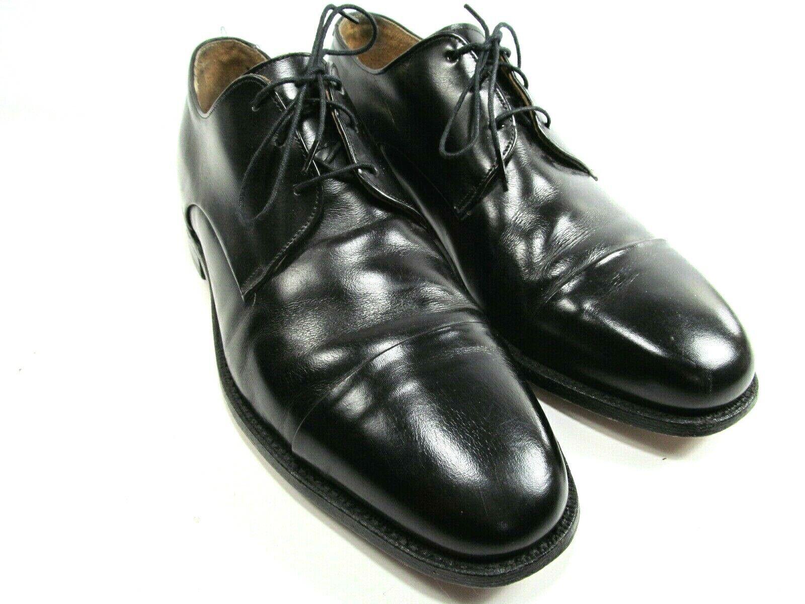Johnston Murphy Aristocraft Mens Black Cap Toe Oxfords Size US 9.5 D/B USA Made