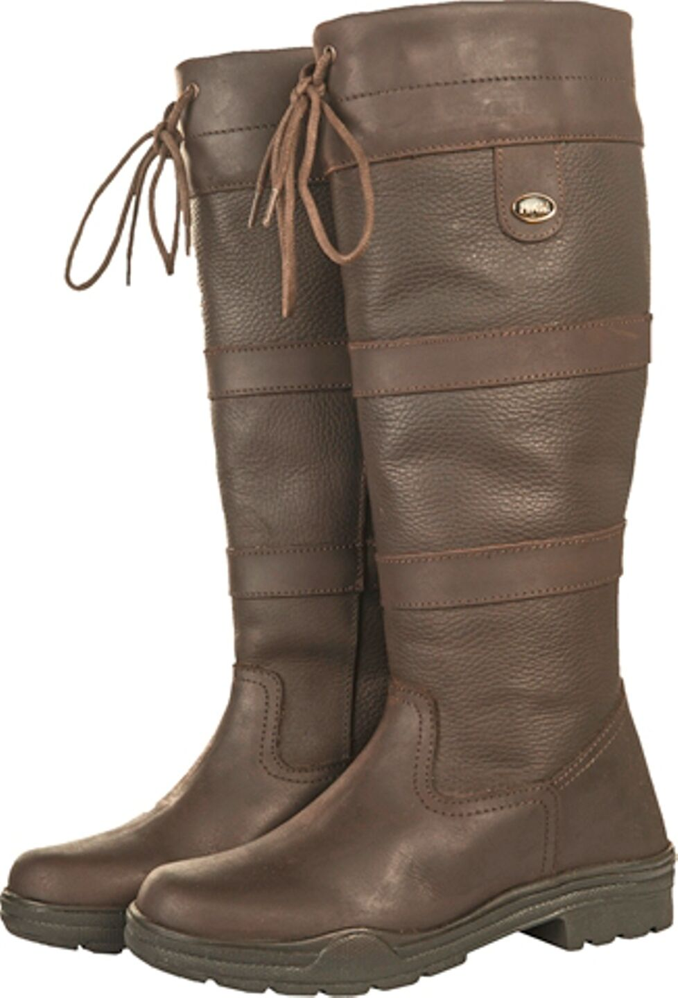 REITSTIEFEL Lederreitstiefel flexibel 36-44 brown Fettleder NORMAL   KURZ WEIT