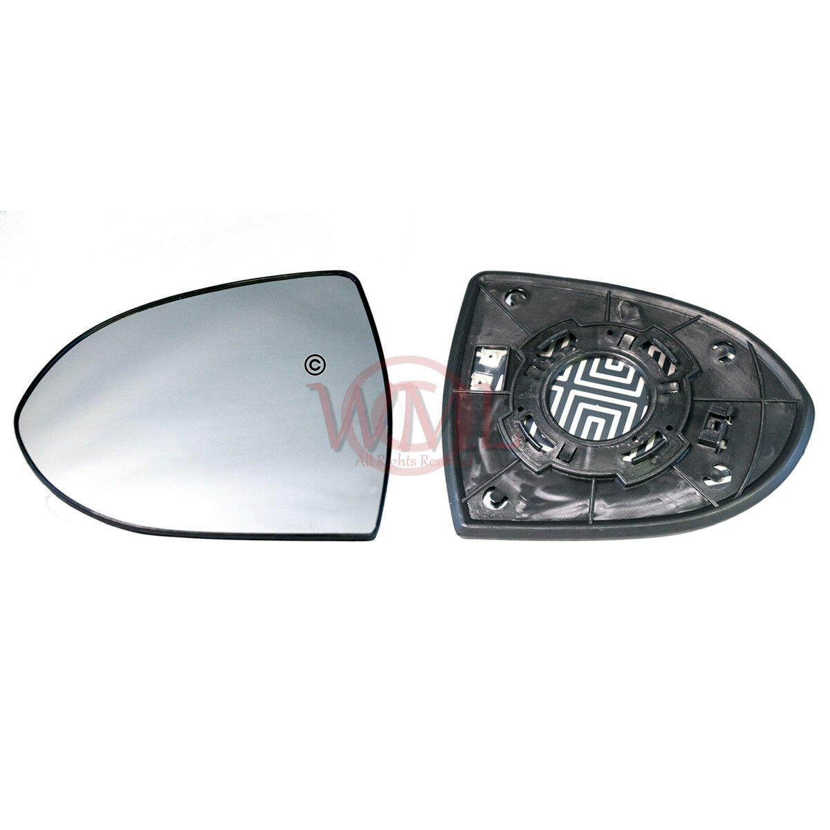 Kia Sportage Mk3 2010-2015 Left Passenger Side Convex wing mirror glass 557LS