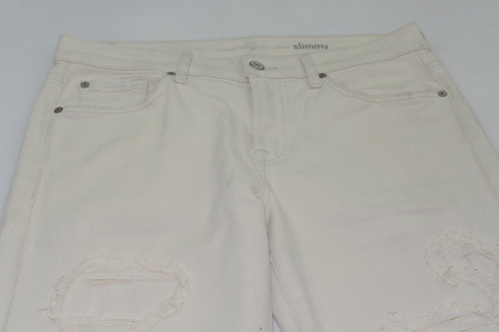 NWOT 7 For All Mankind Men's Slim Straight Leg Jeans Pants 33X29