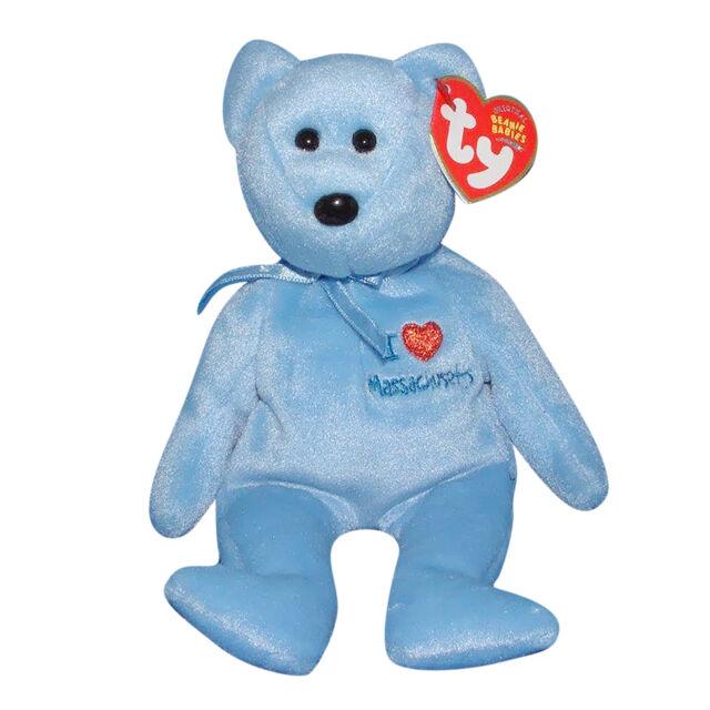 8396b8adb4e 2004 Ty Beanie Babies I Love Massachusetts Retired Mwmt s for sale ...