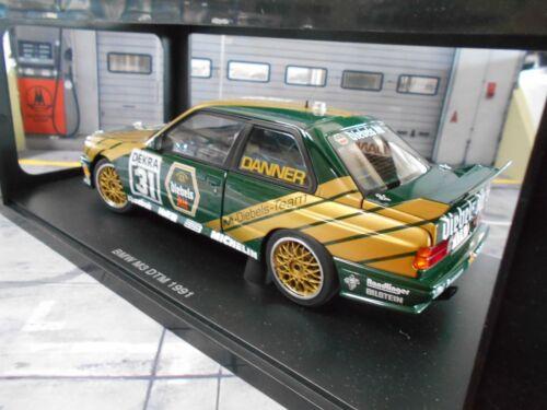 BMW M3 3er E30 DTM 1991 Danner Diebels Alt #31 MM Murmann RAR AUTOart 1:18