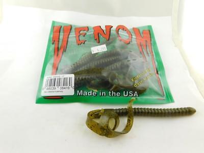 "Venom 10/"" King Snake Ribbontail Black Blue Shad Bait Pack of 5"