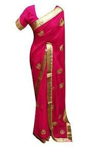 Caricamento dell immagine in corso INDIANO-vestiti-donna-moda-fucsia-SARI- Bollywood-formale- e92f6a27b83