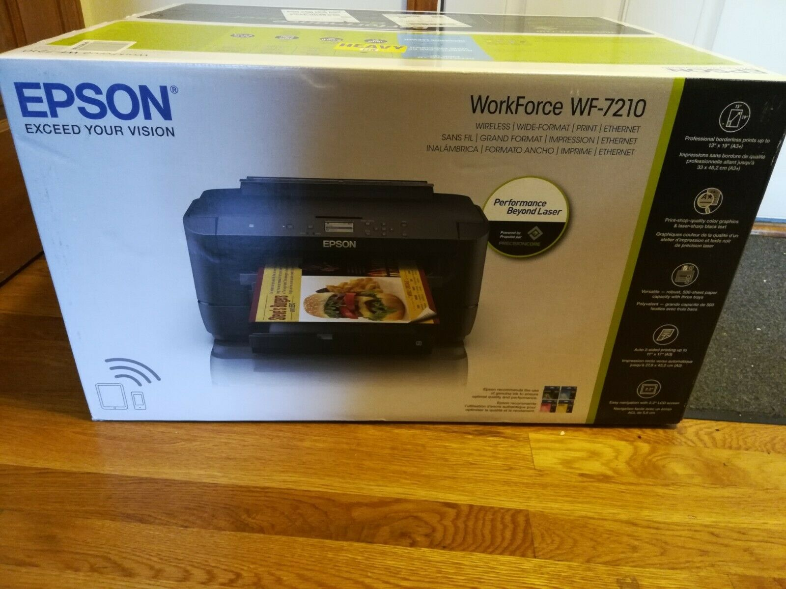 Brand New Epson WorkForce WF-7210 Wireless Wide Format Color Printer Sealed. Buy it now for 379.89