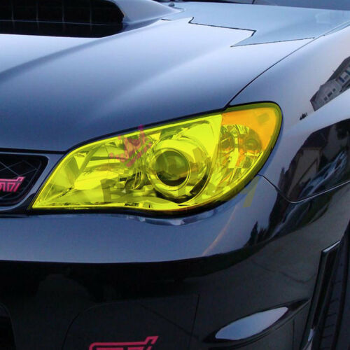 "*12/""x84/"" Glossy Medium Black Smoke Tint Headlights Fog Lights Sidemarker Sheet"