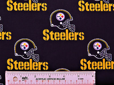 "22"" REMNANT Pittsburg Steelers Cotton Fabric (N1) *"