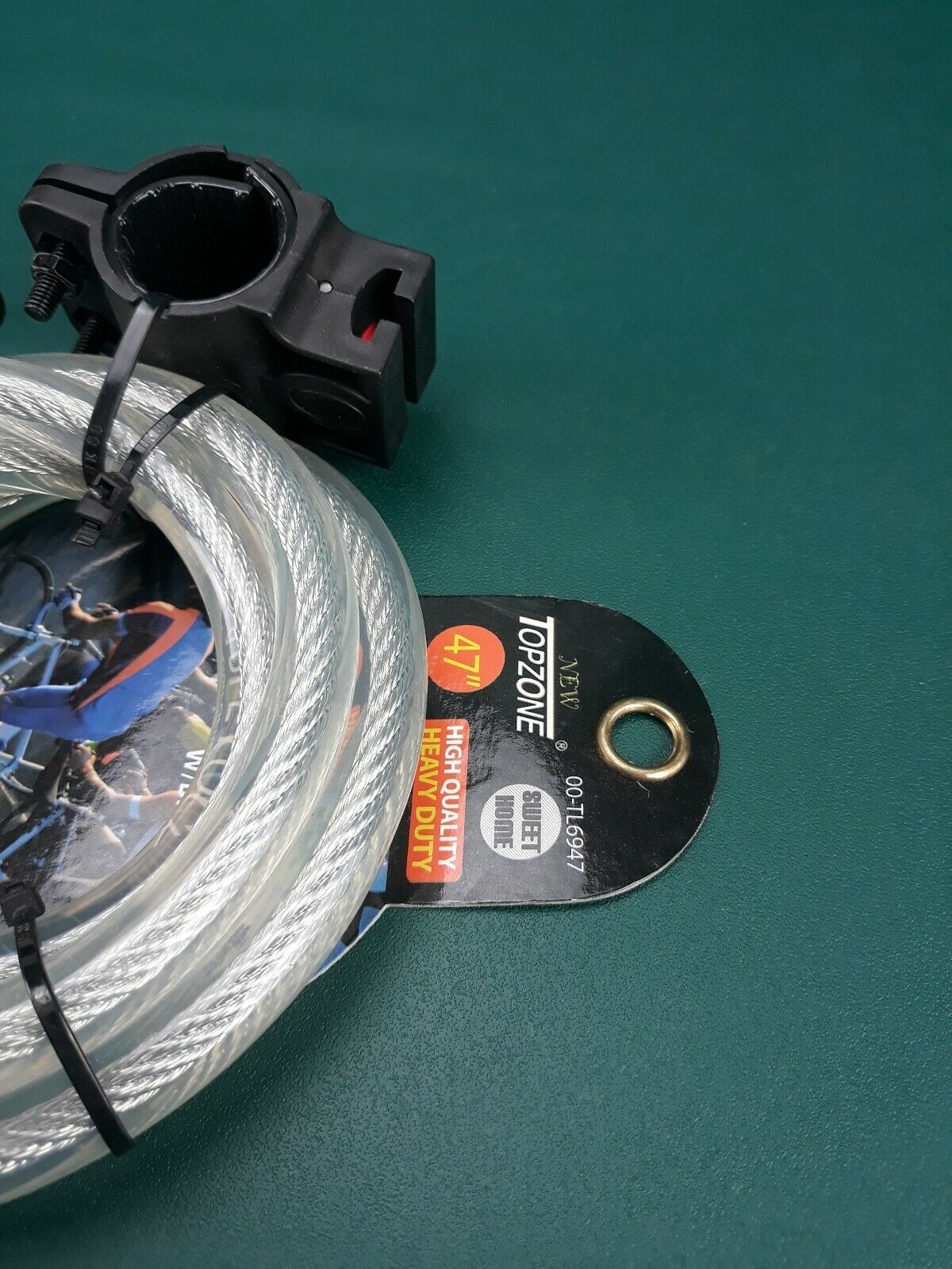 """Topzone 47/"""" inch Extra Long Heavy Duty 12mm Cable Self Coiling 4-digit..."""