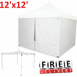 12x12' Caravan Canopy Portable Shelter Steel Enclosure ...