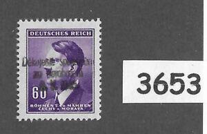 #3653  MNH Sc66  60 Hal  BaM WWII Liberation 1945 Overprint stamp Adolf Hitler