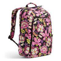 Vera Bradley Cotton Laptop Backpack In Pirouette Pink